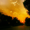 Mall Road Peshawar Sunset