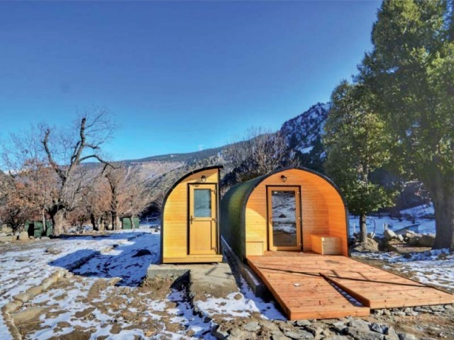 Camping pods in Bamburet